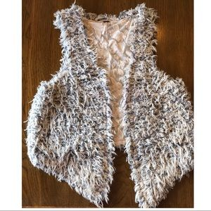 Free People shag vest